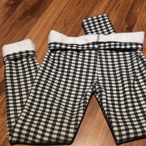 NWOT fleece lined checkered leggings